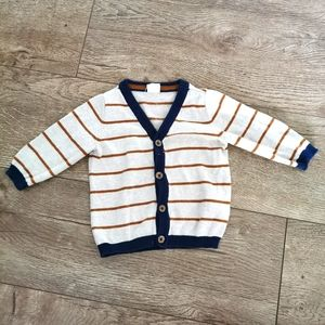 2/$15 H&M striped knit cardigan 4-6 m